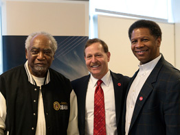 Rep. Danny Davis at UI Health with Dr. Winn and Dr. Barish