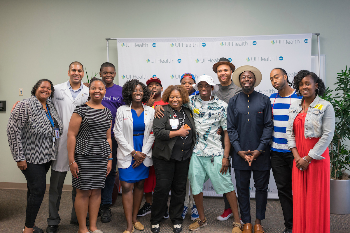 Before Lollapalooza Performance, Hip-Hop Artist Jidenna Visits Sickle Cell Patients at UI Health