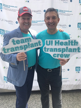 Dr. Barish, Dr. Benedetti, at the Transplant Program 50th Anniversary event