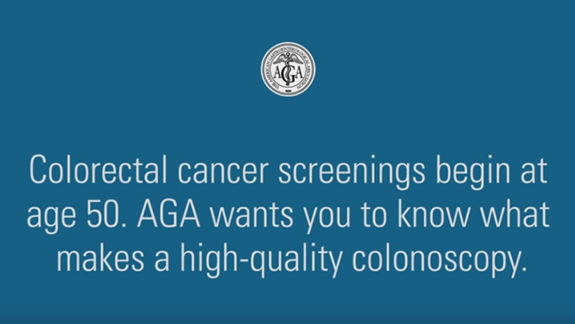 What is the recommended age for a colonoscopy?