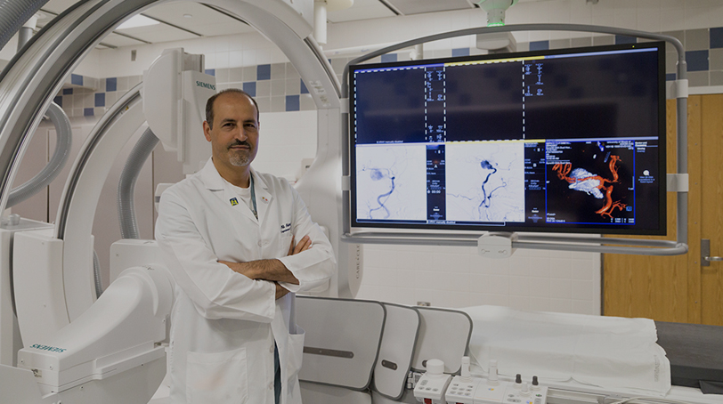 Ali Alaraj, MD - Our neurosurgeons use advanced interventions to treat strokes before they can cause permanent damage to the brain.